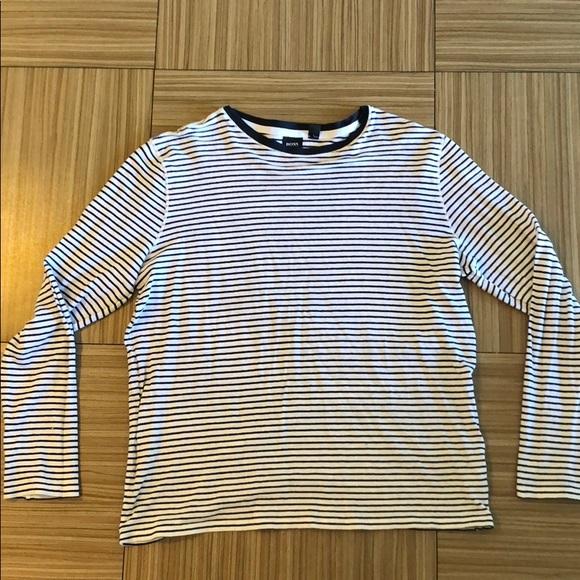 1452e3e5a Hugo Boss Shirts | Striped Long Sleeve Shirt | Poshmark